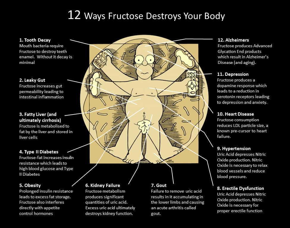 12 Ways Fructose Destroys Your Body